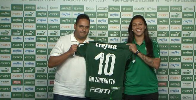 Bia Zaneratto apresentação Palmeiras permanecer após o fim do empréstimo