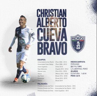 Cueva foi anunciado por clube mexicano, após saída polêmica do Santos