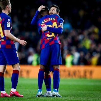 Após fazer dois gols e quebrar recorde, Ansu Fati exalta parceria com Messi e diz: Tudo isso é um sonho