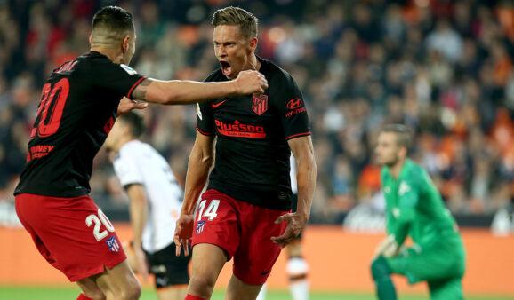 Atlético de Madrid empatou com o Valencia, por 2 a 2 fora de casa; assista ao gols