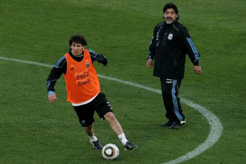 Messi Maradona Napoli Barcelona