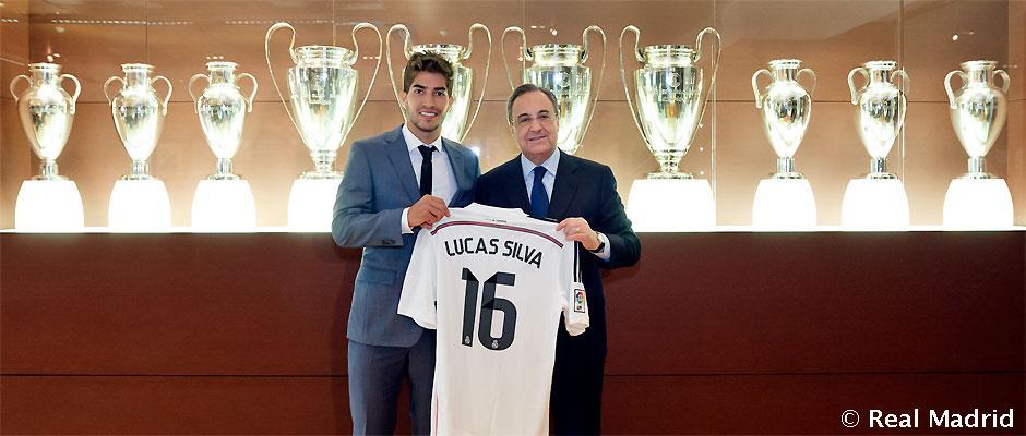Lucas Silva apresentado no Real Madrid