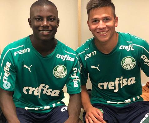 Recém-contratados, atacante colombiano e meio-campista paraguaio se apresentam ao Palmeiras