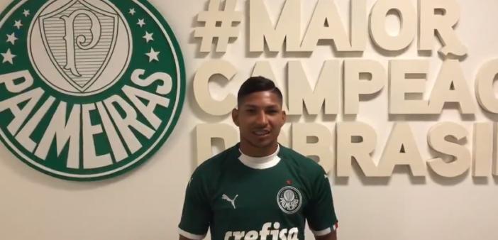 Rony foi novidade em treino do Palmeiras