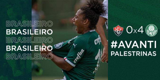 Palmeiras bate Vitória 4 a 0 Brasileirão Feminino
