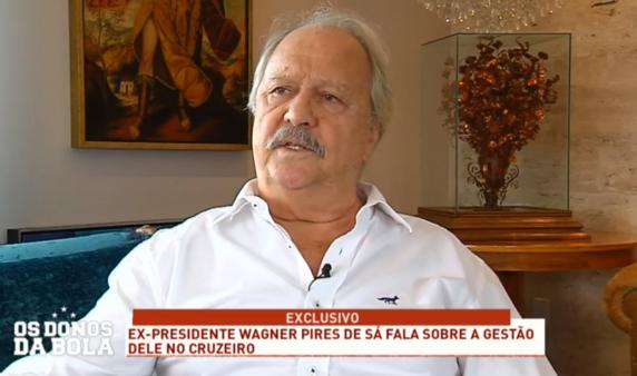 Wagner Pires de Sá revela que não fez dívidas no Cruzeiro