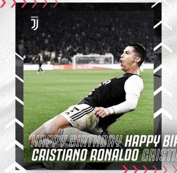 """Juventus parabeniza Cristiano Ronaldo pelo seu aniversário: """"Já vivemos momentos inesquecíveis"""""""