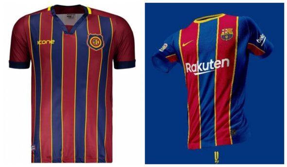 Barcelona e Madureira têm uniformes parecidos