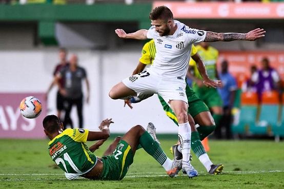 O Santos estreou na Libertadores com vitória na Argentina sobre o Defensa y Justicia por 2 x 1 (Foto: Staff Images/ Flickr oficial Santos FC)