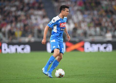 Lozano com a camisa do Napoli