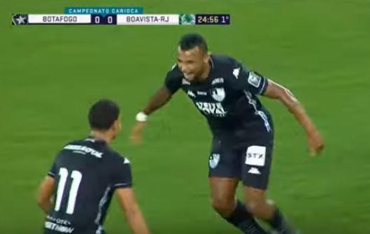 Alex Santana marcou o gol do Botafogo contra o Boavista