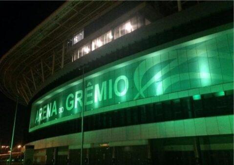 Arena do Grêmio homenageou os profissionais da saúde