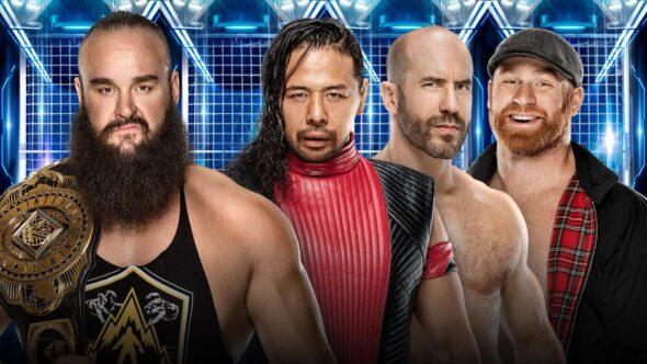 Braun Strowman vs. Shinsuke Nakamura, Cesaro & Sami Zayn