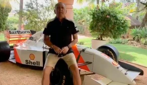 Galvão enviou mensagem de aniversário para Ayrtin Senna.