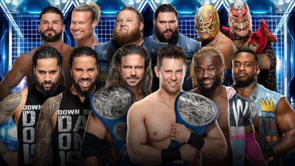 SmackDown Tag Team Championship Elimination Chamber Match