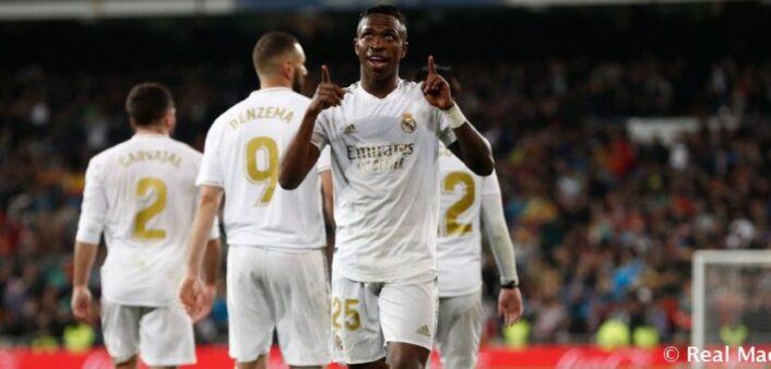Vinicius Jr foi eleito o melhor do mês no Real.