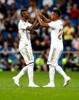 Vinicius Jr e Rodrygo, jogadores do Real Madrid