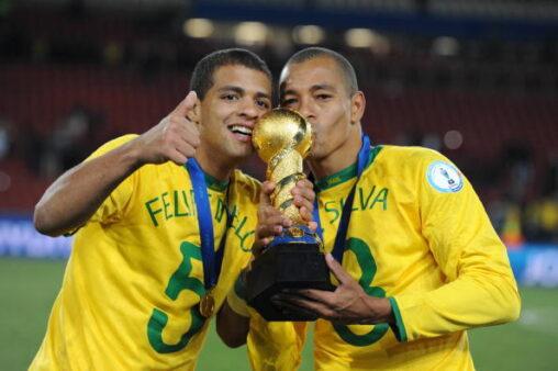 Gilberto Silva e Felipe Melo