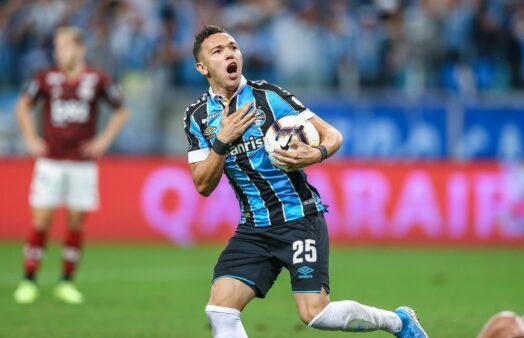 Pepê em Flamengo x Grêmio