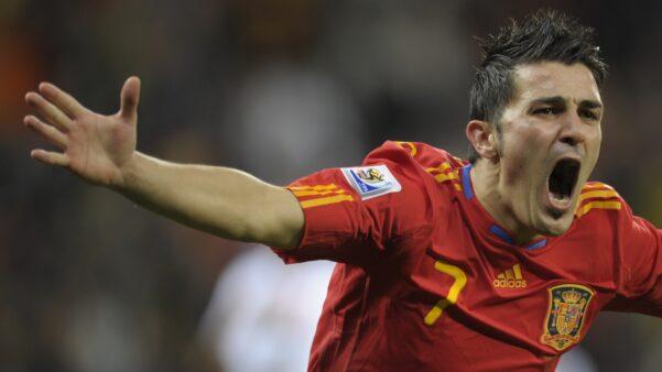 David Villa em ação pela Seleção Espanhola