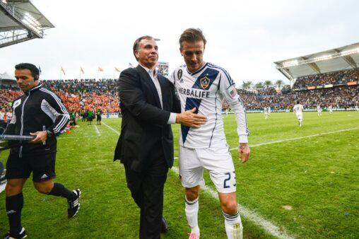 O último gol de Beckham foi no LA Galaxy, em 2012