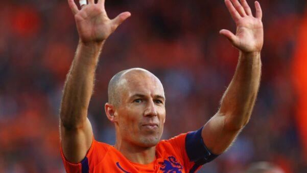 Arjen Robben em ação pela Seleção Holandesa