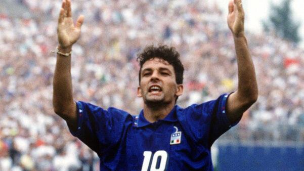 Roberto Baggio em ação pela Seleção Italiana