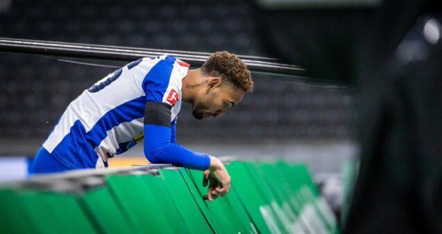 O atacante brasileiro Matheus Cunha fez gol na 27ª rodada da Bundesliga