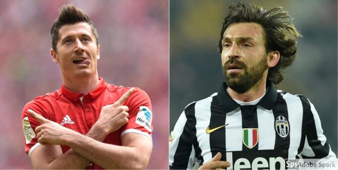 Lewandowski no Bayern e Pirlo na Juventus