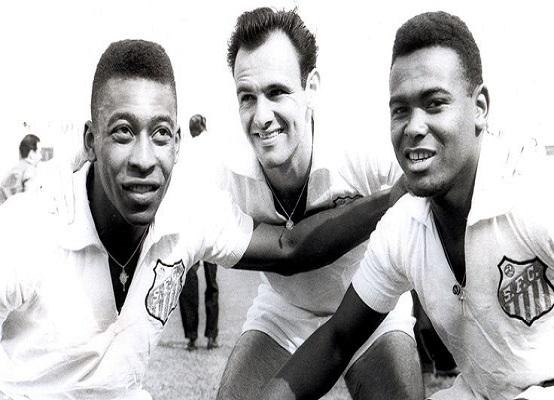 Pelé, Pepe e Coutinho (Foto: Divulgação/ Santos FC)