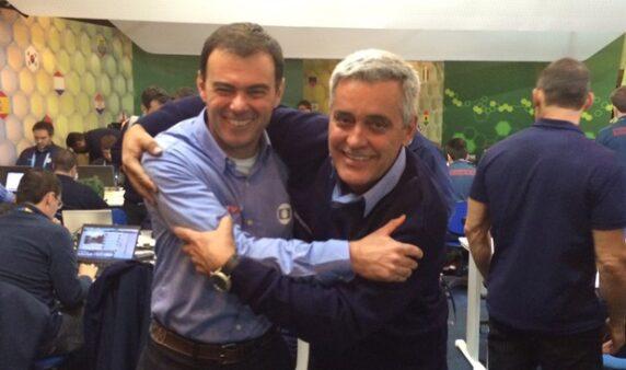 Repórteres Tino Marcos e Mauro Naves