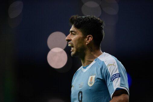 Luis Suárez em ação pela Seleção Uruguaia