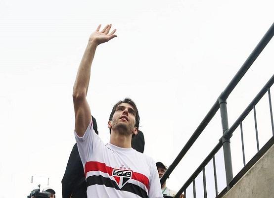 O ídolo Kaká descendo para o vestiário do Morumbi, em seu último jogo pelo São Paulo (Foto: Reprodução/ Facebook oficial)