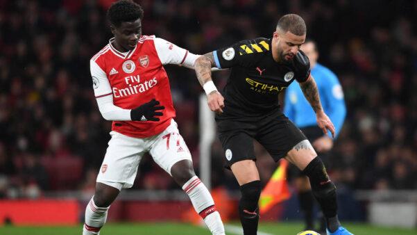 Arsenal e City duelam pela Premier League.