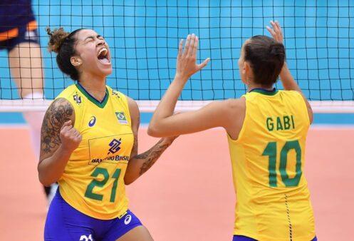 drussyla e gabi pela seleção brasileira de vôlei