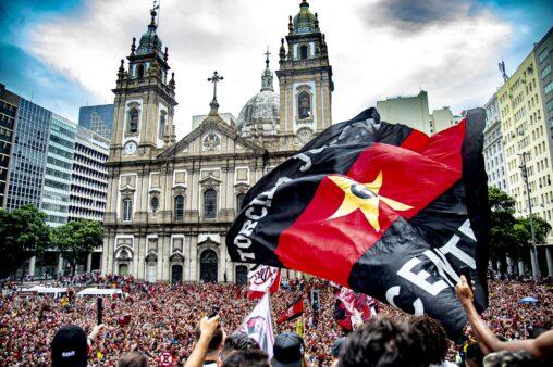 Rodrigo Caio recordou festa pelo título da Libertadores.