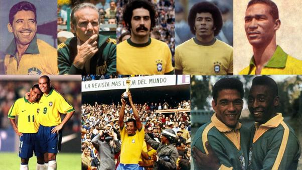 Lendas da seleção brasileira (Fotos: Divulgação/ Montagem: Adriano Oliveira)