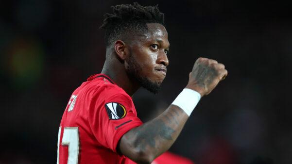 Fred em ação pelo Manchester United