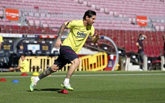 Messi treino Barcelona