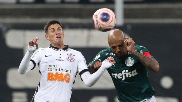 Felipe Melo em Corinthians x Palmeiras