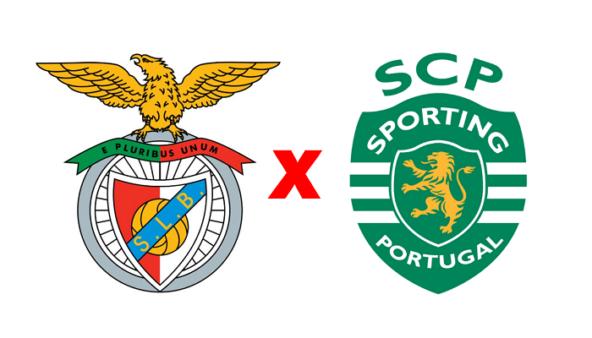 Benfica x Sporting (Reprodução/ Arte/ Escudos/ Montagem: Adriano Oliveira)