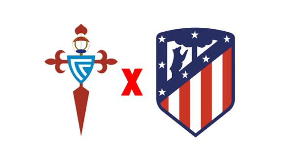 Celta de Vigo x Atlético de Madrid (Reprodução/ Arte/ Escudos/ Montagem: Adriano Oliveira)