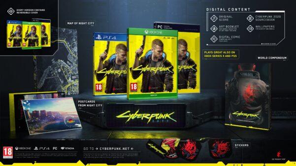 A edição normal de Cyberpunk 2077 oferece muitos presentes aos jogadores