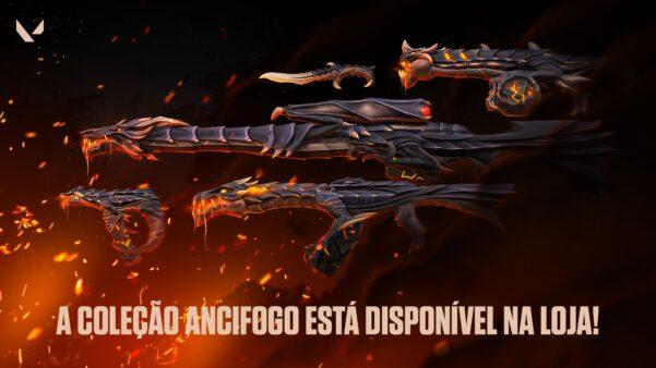 A primeira grande coleção de skins de Valorant possui o tema de dragão