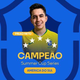 O domingo de Esports foi premiado com o título do brasileiro Paulo Neto naSummer Cup Series de FIFA 20