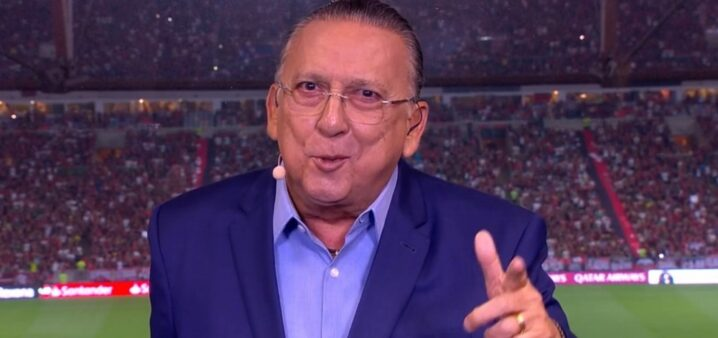 Galvão Bueno narrou jogo do Palmeiras.
