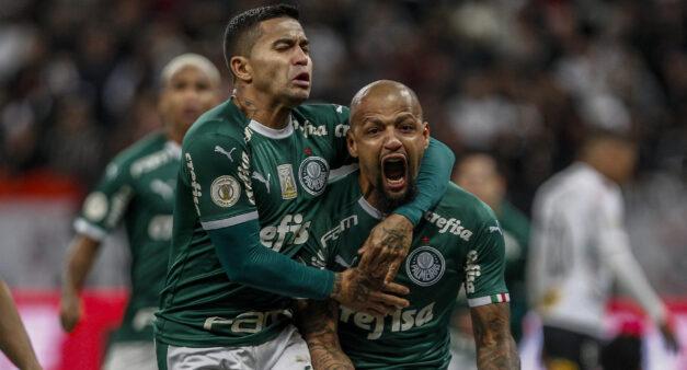 Felipe Melo e Dudu, no Palmeiras