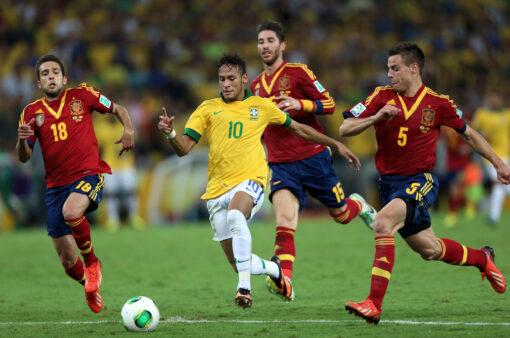 Brasil x Espanha Copa das Confederações 2013 Neymar Sergio Ramos jordi alba