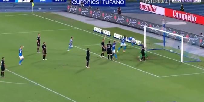 Napoli x Milan gols