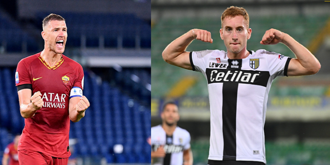 Roma x Parma (Reprodução Facebook oficial/ Montagem: Adriano Oliveira)